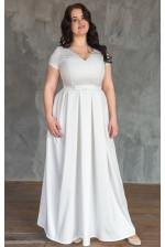 Элегантное свадебное платье на большую грудь