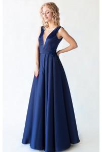 Элегантное вечернее платье с открытой спиной