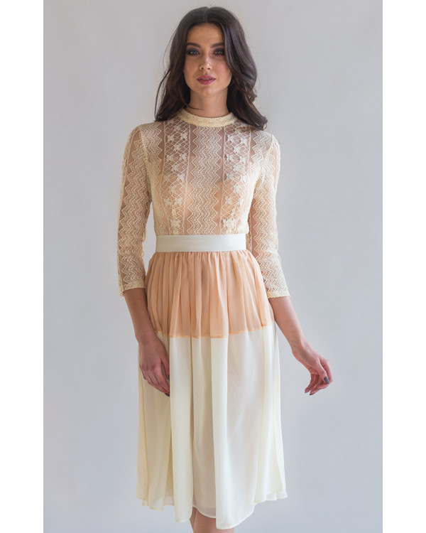 29509dbce95fb1 Коктейльное платье с кружевным рукавом купить в интернет-магазине ...