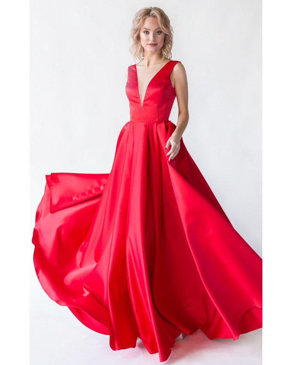 b0dc212e745 Красное вечернее платье с открытой спиной купить в интернет-магазине ...
