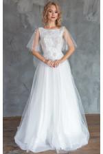 Нежное свадебное платье с вышивкой одуванчики