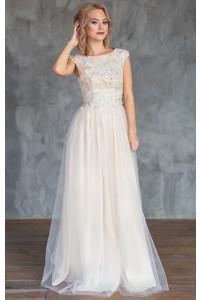 Свадебное платье с цветочным верхом