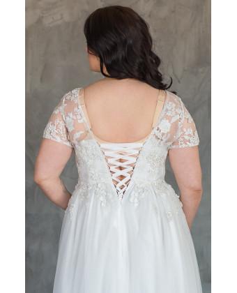 Свадебное платье с корсетом на большую грудь