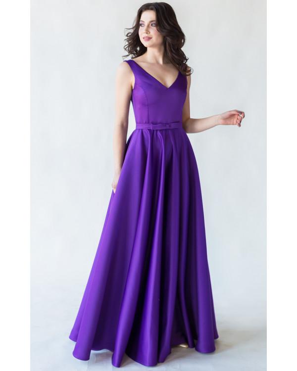 48ae873fe6d Вечернее атласное платье с юбкой солнце купить в интернет-магазине ...