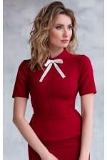 Офисная блузка красная