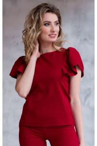 Стильная блузка красная