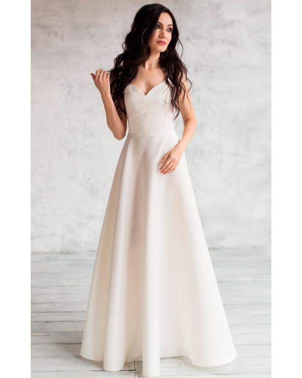 1cd633360b0 Атласное свадебное платье айвори купить в интернет-магазине Роял ...