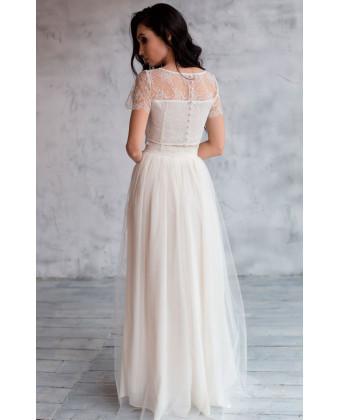 Необычное свадебное платье костюм