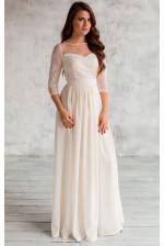 Нежное свадебное платье с рукавом