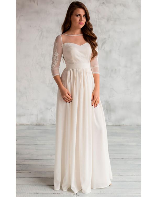6c4869793a9 Нежное свадебное платье с рукавом купить в интернет-магазине Роял ...