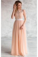 Нюдовое свадебное платье