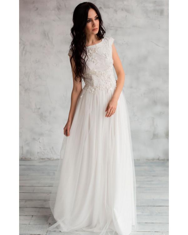 9a886e6cc Пышное свадебное платье с открытой спиной купить в интернет-магазине ...