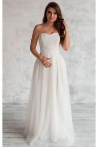 Свадебное платье с кружевным топом