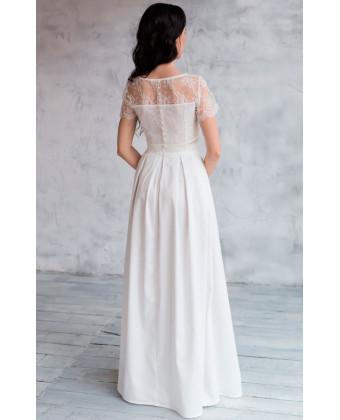 Свадебное платье топ и юбка