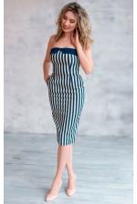 Стильное платье в полоску