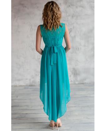 Коктейльное платье с юбкой разной длины