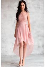 Коктейльное платье с подолом разной длины