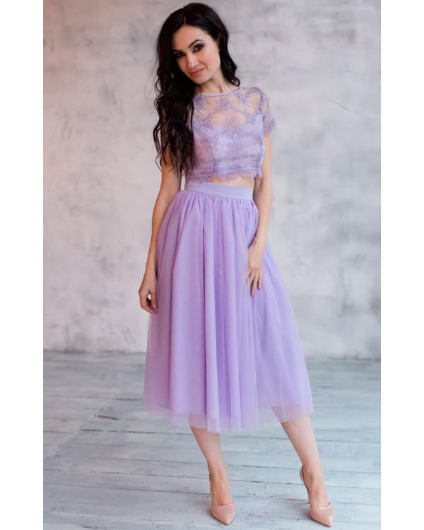 3d6ab0505e8 Платье миди с пышной юбкой купить в интернет-магазине Роял-бутик ...