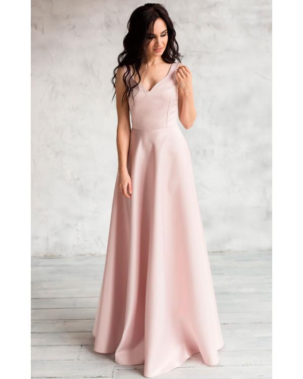 d0ac8e3f20a Атласное вечернее платье купить в интернет-магазине Роял-бутик ...