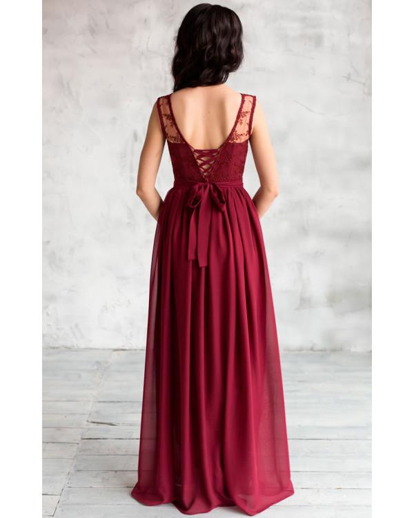 Бордовое платье доставка