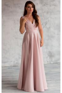 Красивое длинное вечернее платье