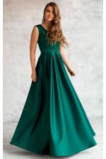 Красивое изумрудное вечернее платье