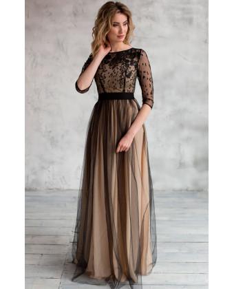 Необычное вечернее платье черное