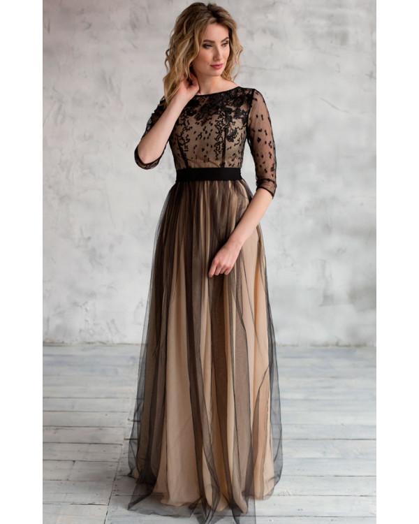 15b86546552 Необычное вечернее платье черное купить в интернет-магазине Роял ...