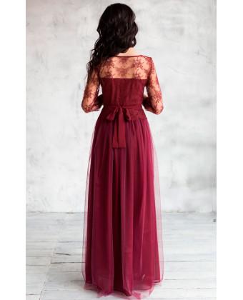 Шикарное вечернее платье с рукавом