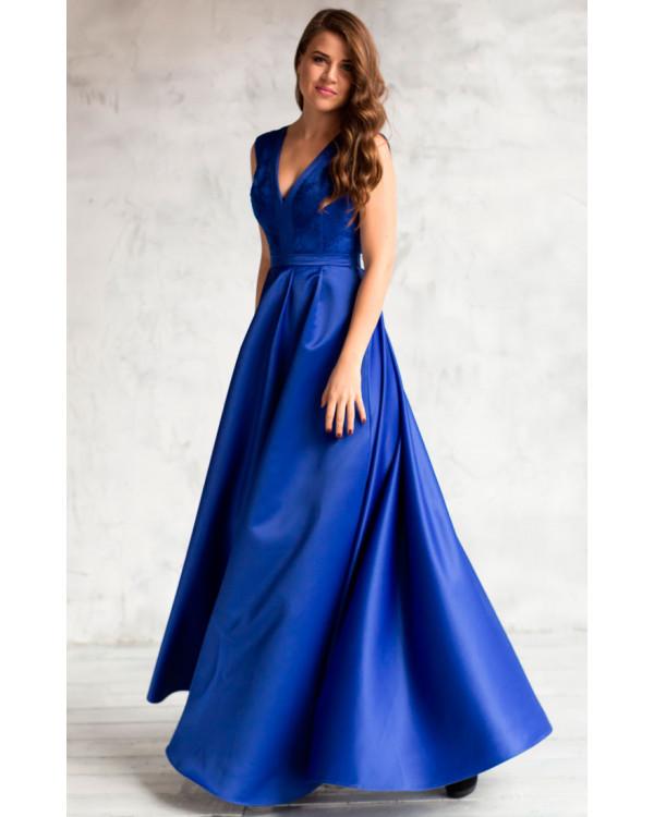 00a53b16380 Вечернее платье синего цвета купить в интернет-магазине Роял-бутик ...
