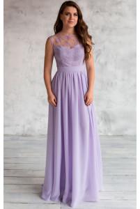 Вечернее сиреневое платье