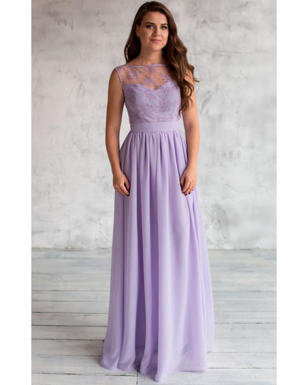 88967b83a33 Вечернее сиреневое платье купить в интернет-магазине Роял-бутик ...