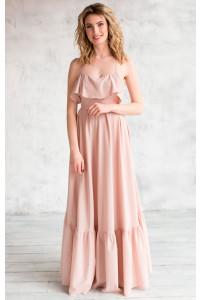 Платье с открытой спиной нюд