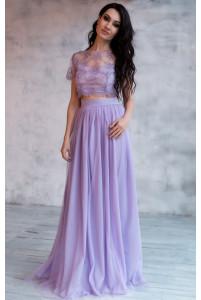 Высокая юбка и топ на выпускной