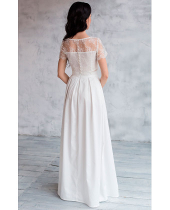 Белая юбка А силуэта