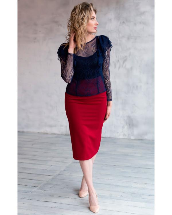 489b0c1f89d Красная юбка карандаш купить в интернет-магазине Роял-бутик - Юбки с ...