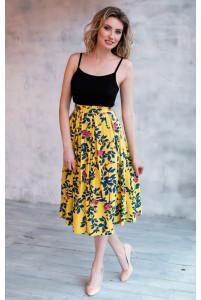 Льняная юбка миди