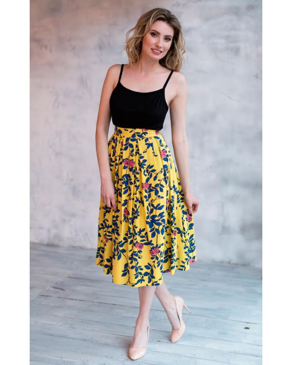 e6845e5bb18 Льняная юбка миди купить в интернет-магазине Роял-бутик - Юбки с ...