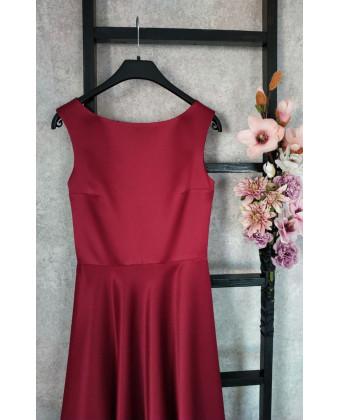 Элегантное платье марсала