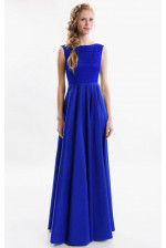 Изысканное синее вечернее платье