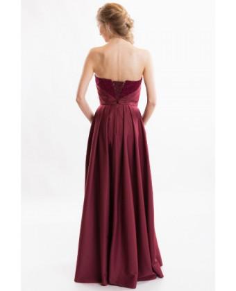 Вечернее платье б/б марсала