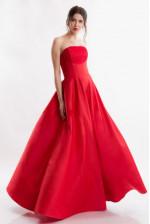 Вечернее платье б/б красное