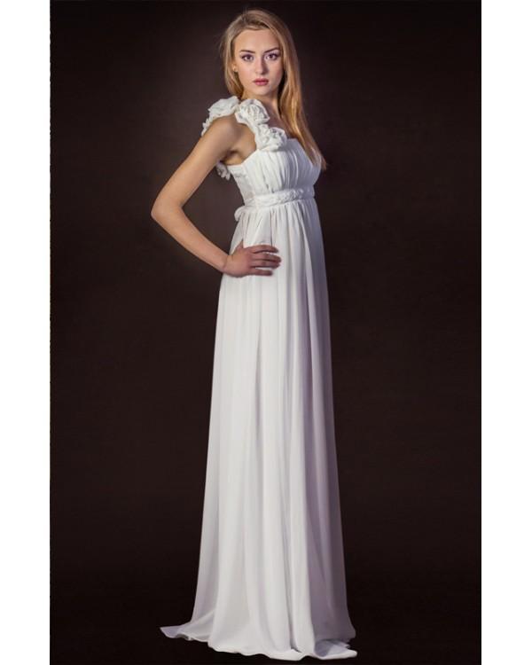 Греческое платье белое купить в