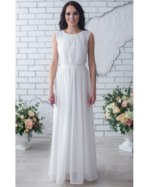 5e1449ea3a2 Белое шифоновое платье купить в интернет-магазине Роял-бутик ...