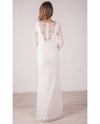 Кружевное свадебное платье А силуэта