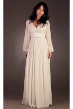 Шифоновое платье в пол с длинным рукавом