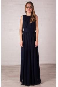 Платье греческое темно-синего цвета