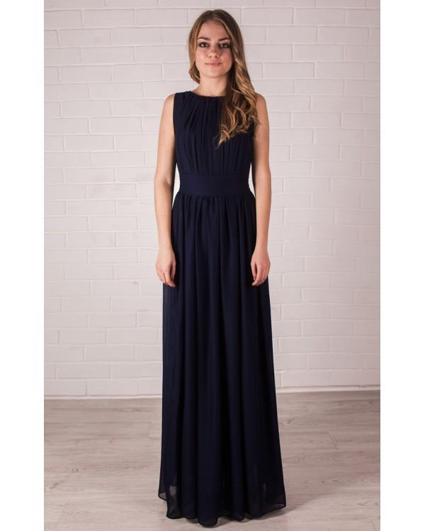 0f575bb3d69 Платье греческое темно-синего цвета купить в интернет-магазине Роял ...