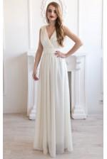 Платье на роспись с лифом на запах