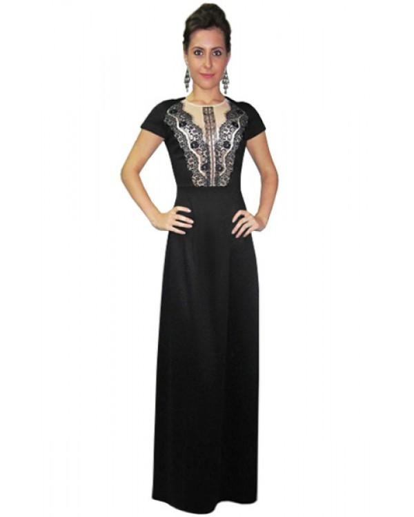 b760748f7e5 Длинное платье с кружевной вставкой купить в интернет-магазине Роял ...